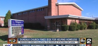 Maryland County to Church: Evict Homeless or Pay $12,000 Fine