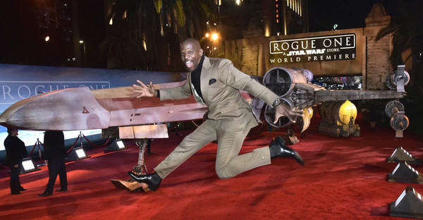 "Actor Terry Crews attends The World Premiere of Lucasfilm's highly anticipated, first-ever, standalone Star Wars adventure, ""Rogue One: A Star Wars Story"" at the Pantages Theatre on December 10, 2016 in Hollywood, California. (Marc Flores/Getty Images North America)"