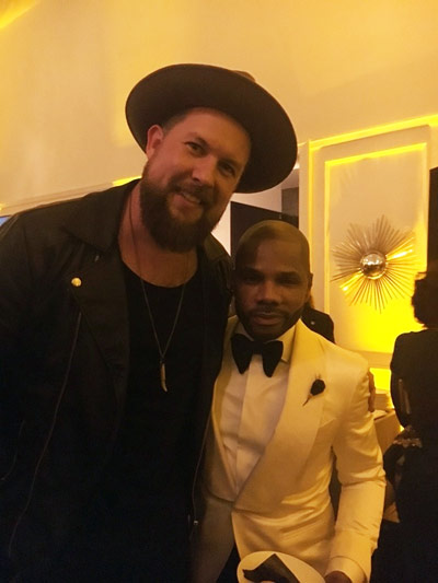 While at the GRAMMYS, Zach has some hangout time with Kirk Franklin.