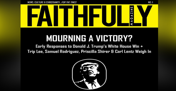 The cover of Faithfully's inaugural print issue.
