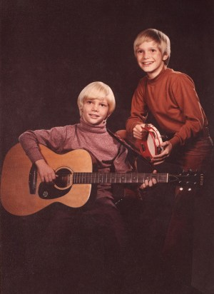 """Steven Curtis Chapman, left with brother Herbie in their early music days. Photo from """"Between Heaven and the Real World"""" by Steven Curtis Chapman with Ken Abraham. / Image courtesy of Revell, a division of Baker Publishing Group"""