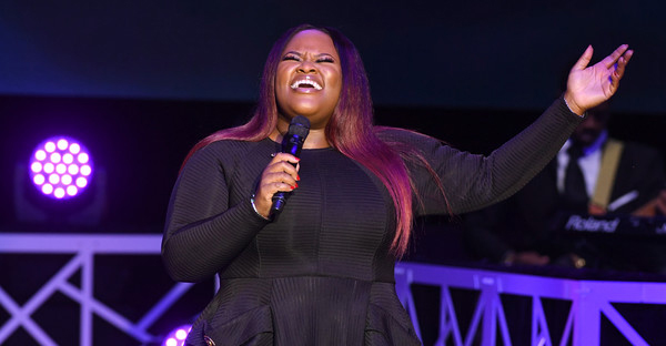 Tasha Cobbs performs 2017 BMI Trailblazers of Gospel Music at Rialto Center for the Arts on January 14, 2017 in Atlanta, Georgia. (Paras Griffin/Getty Images North America)