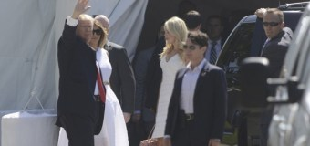 President, First Lady Trump Attend Easter Church Service In Palm Beach With Some of Their Family Members