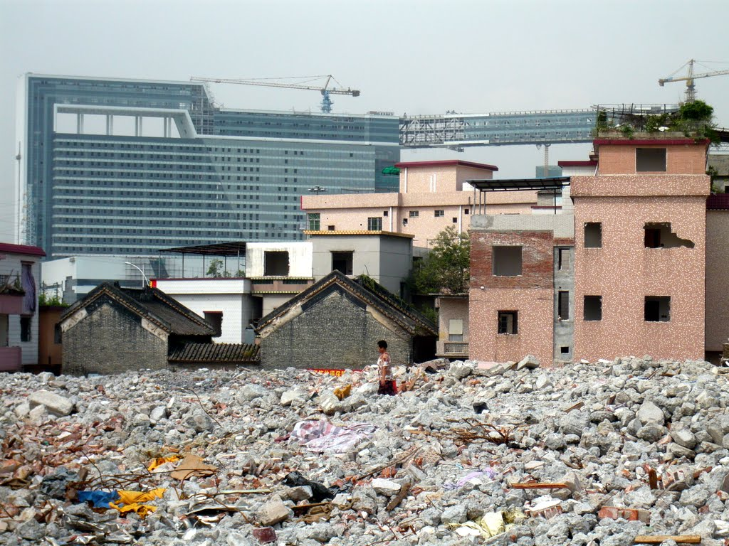 Flattened former rural village in Guangzhou (Photograph by Hyun Bang Shin, 2010)