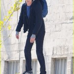 Andrew Garfield Swings Around In The Sky For Spiderman