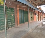 Closed shops  at Alaba International Market as a result of the protest