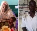 Escaped Chibok girl Amina Ali Nkeki and her Boko Haram husband