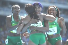 OKAGBARE  AND RELAY TEAM