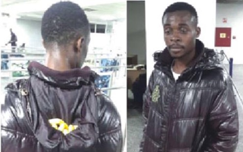 NDLEA Arrest Shoe Seller Who Hide 10 Wraps of  Cocaine in  Jacket Collar