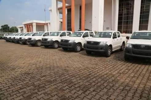 The security patrol vehicles