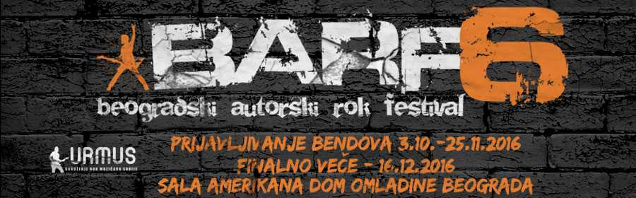 """Prijave za """"Beogradski autorski rok festival"""" do 25. novembra"""
