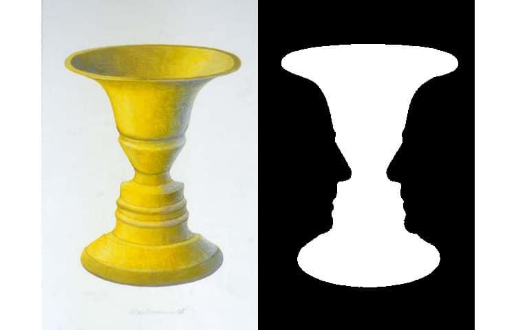 Image source: Rubin's Vase by John smithson 2007 at English Wikipedia [Public domain], via Wikimedia Commons