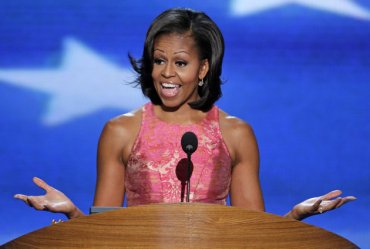 Michelle Obama brings substance, grace and teary credibility to introduce Barack.