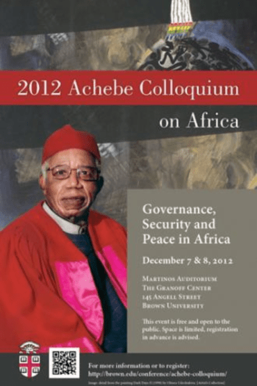 Africa's new sets of complex challenges dissected at Achebe 2012 Colloquium