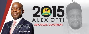 "Alex Otti APGA's Abia Governorship candidate warns ""desperate opponents"" for destroying banners"