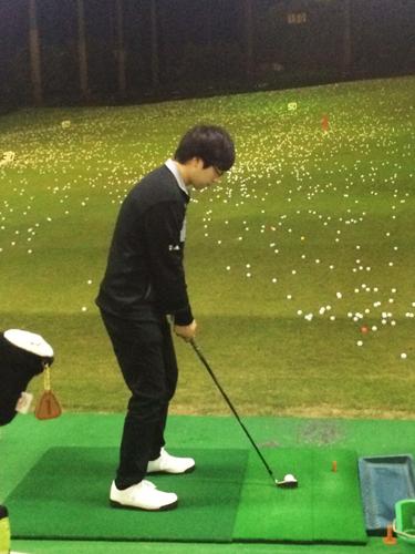 ゴルフの練習の写真