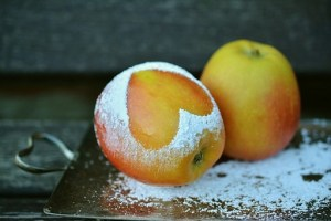 粉とりんご