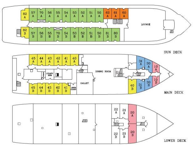 Grande Mariner Deck Plan 2016