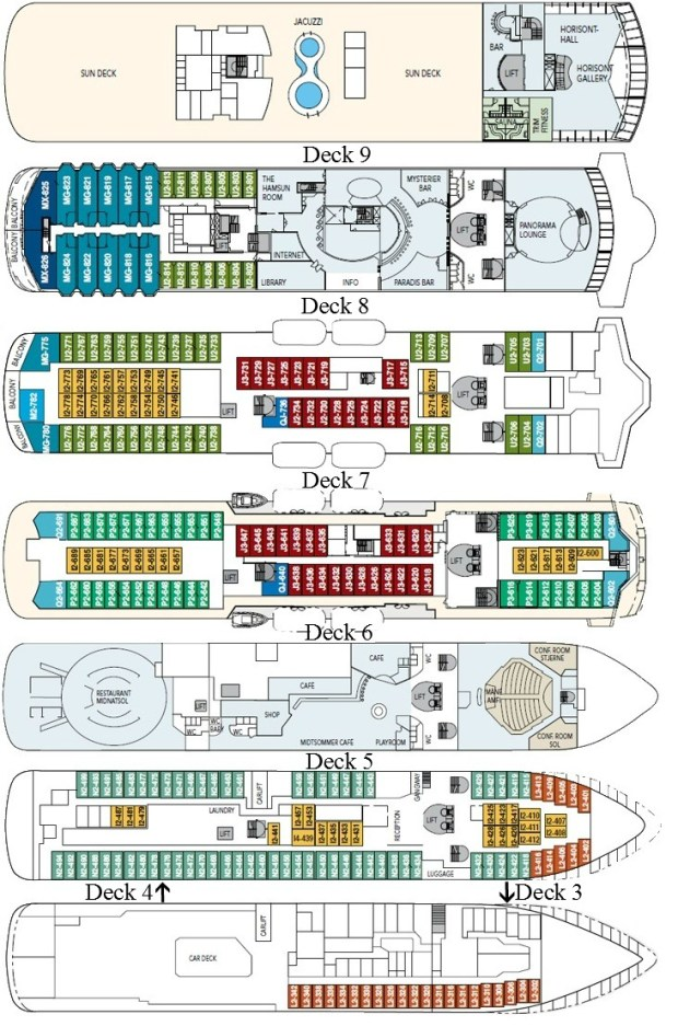 Deck Plan marked