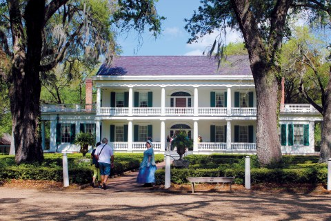 Baton Rouge Louisiana - Rosedown plantation tour. Lower mississippi river cruise port of call.