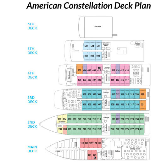 American Constellation Deck Plan 2016