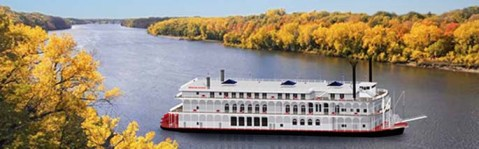 Computer rendering of American Duchess on the Mississippi River