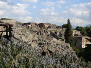 hillside in pompeii