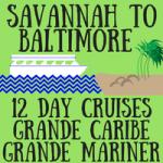 Savannah to Baltimore