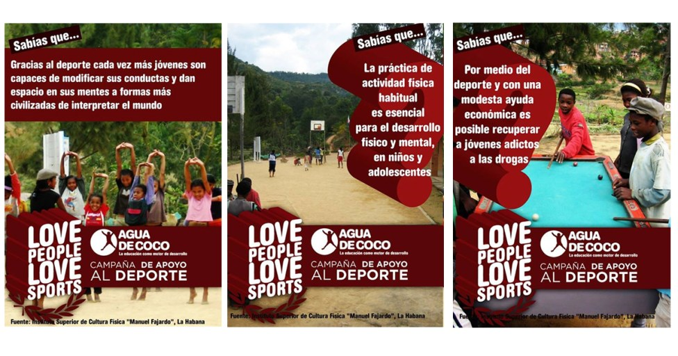 Love people, love sports. Sensibilización en redes sociales.
