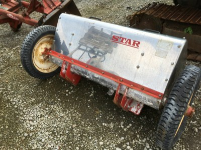 STAR MLS120A 30081 FERTILIZER SPREADING ROTARY used compact tractor attachment |KHS japan