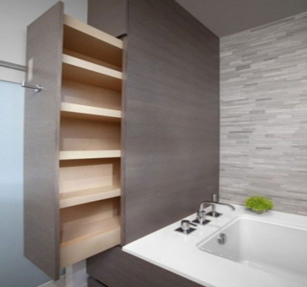 Diy bathroom storage ideas for Bathroom shelves design