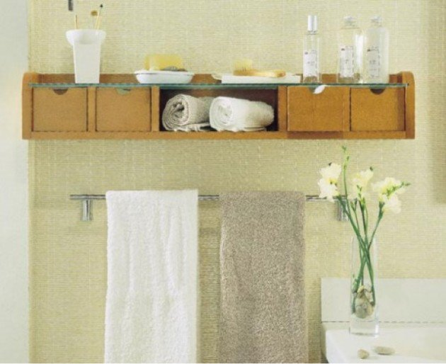 white and turquoise color scheme for bathroom storage solutions
