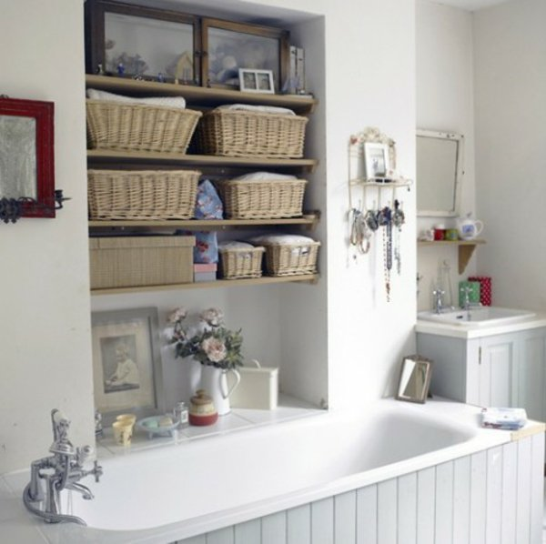 Creative Bathroom Shelving Ideas : Diy bathroom storage ideas