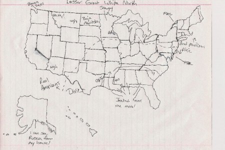 challenge! draw a freehand map of the united states