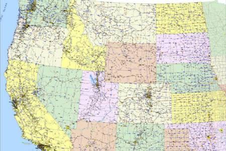 western united states mapping custom