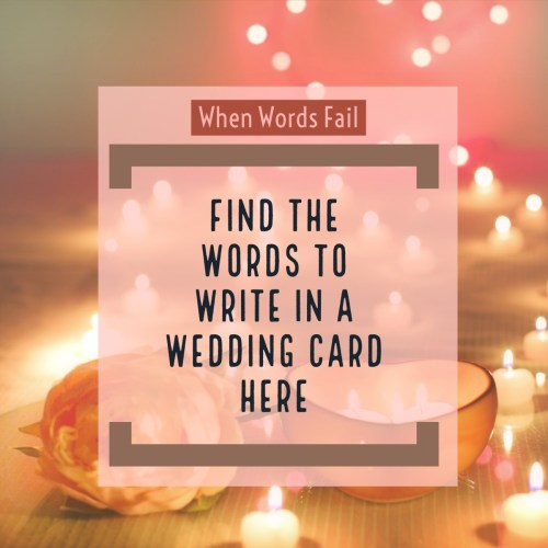 Smothery Words To Write Inside A Wedding Card Holidappy What To Write A Wedding Card To A Mermaid A Wedding Card Niece What To Write