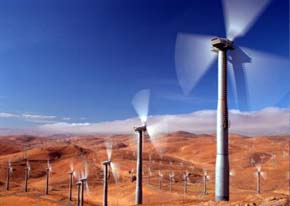 Wind turbines hard at work in Altamont Pass, California. Image from Energy.CA.Gov.