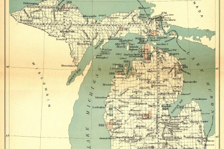 indian land cessions in the u. s., michigan 2, map 30