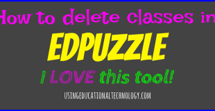 How to Delete Previous Classes in Edpuzzle