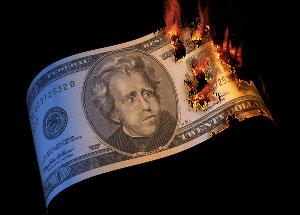 dollar-terbakar