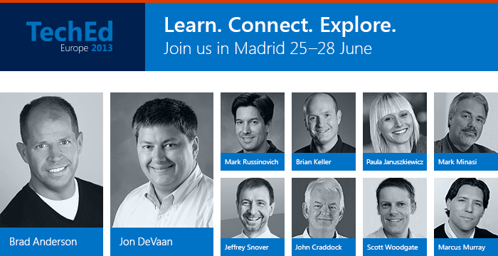 Join the UK TechNet Team at TechEd Europe for Free
