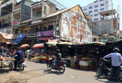 Marché à Phnom Penh