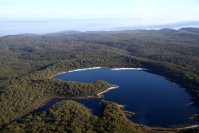 Le même lac McKenzie vu d'en haut