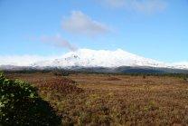 Le mont Ruapehu, un des 3 volcans du Tongariro National Park