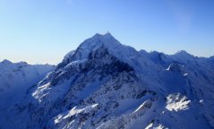 Le mont Cook vu d'en-haut