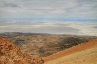 """Du haut du volcan, vue sur le """"petit"""" Salar"""
