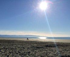 La plage de Nelson durant l'hiver...