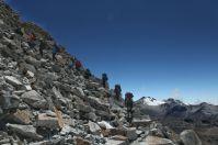 La difficulté du 2ème jour : un sac lourd et l'altitude