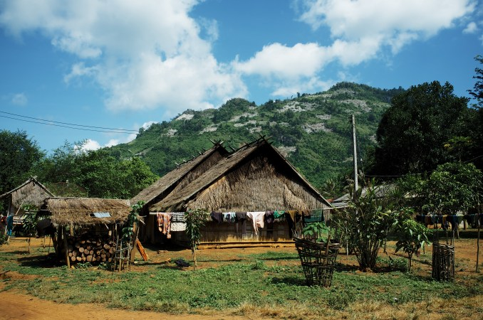 This is Long Lao Mai, an ethnic Hmong village located up in the mountains of northern Lao PDR. This village is part of a community-based ecotourism initiative, and has frequently been the site of numerous NGO projects. This photo was taken on October 24th, 2014.