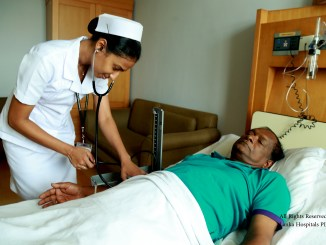 A patient being attended to by a nurse at Lanka Hospitals PLC, one of the largest private hospitals in Sri Lanka | Image: Lanka Hospitals World Class Healthcare
